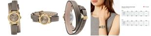 Ferragamo Women's Swiss Gancino Casual Light Brown Leather Wrap Strap Watch 26mm