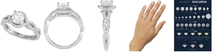 Macy's Star Signature Diamond Engagement Ring (1-1/8 ct. t.w.) in 14k White Gold