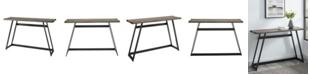Walker Edison 46 inch Metal Wrap Entry Table in Grey Wash