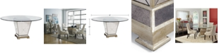 """Furniture Marais Table, 60"""" Mirrored Dining Table"""