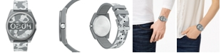 HUGO Unisex #Play Gray Camo Rubber Strap Watch 40mm