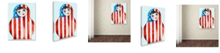 "Trademark Global Oxana Ziaka 'Russian Doll' Canvas Art - 19"" x 14"" x 2"""