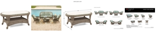 "Furniture Sandy Cove Wicker 40"" x 22"" Oval Outdoor Coffee Table, Created for Macy's"