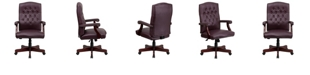 Flash Furniture Martha Washington Leather Executive Swivel Chair