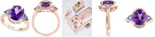 EFFY Collection EFFY® Multi-Gemstone (3-7/8 ct. t.w.) & Diamond & Diamond Accent Ring in 14k Rose Gold