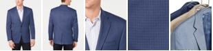 Lauren Ralph Lauren Men's Classic-Fit UltraFlex Stretch Blue Houndstooth Check Sport Coat