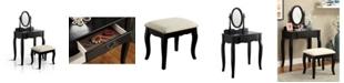 Furniture of America Jayna Vanity Table and Stool Set