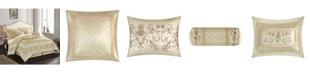 Nanshing Vivian 7-Piece Comforter Set, Beige, Queen
