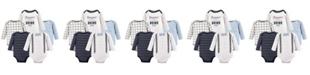 Little Treasure Long-Sleeve Bodysuits, 5-Pack