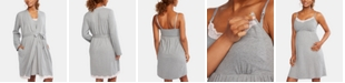 Motherhood Maternity Lace-Trim Nursing Nightgown & Robe