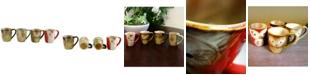Owl City 4 Piece Owl Shape Mug Set