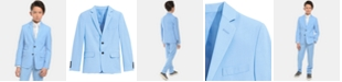 Calvin Klein Big Boys Slim-Fit Stretch Pindot Suit Jacket