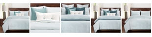 Siscovers Heritage Mist Ticked Stripe Farmhouse 6 Piece Cal King High End Duvet Set