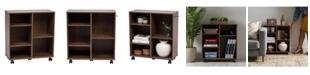 IRIS USA Deep Wooden Rolling Shelf