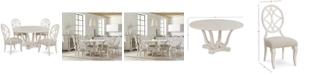 Furniture Trisha Yearwood Jasper County Dogwood Round Dining Furniture, 5-Pc. Set (Table & 4 Side Chairs)