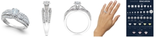 Macy's Diamond Open Setting Engagement Ring (1 ct. t.w.) in 14k White Gold