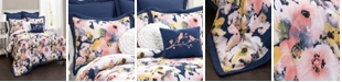 Lush Decor Floral Watercolor 7Pc King Comforter Set