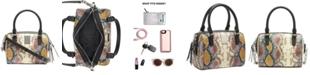 Calvin Klein Tonya Snake-Embossed Leather Crossbody