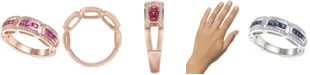 Macy's Certified Ruby (3/4 ct. t.w.) & Diamond (1/5 ct. t.w.) Ring in 14k Gold(Also Available In Sapphire)