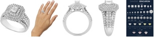 Macy's Diamond Multi-Halo Engagement Ring (2 ct. t.w.) in 14k White Gold