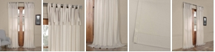 "Exclusive Fabrics & Furnishings Solid Cotton Tie-Top 50"" x 84"" Curtain Panel"