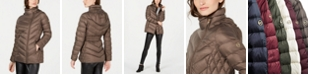 Michael Kors Petite Hooded Packable Down Puffer Coat, Created for Macy's
