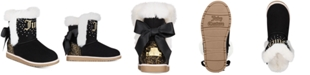 Juicy Couture Little Girls Black Cozy Boots