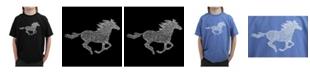 LA Pop Art Big Boy's Word Art T-Shirt - Horse Breeds
