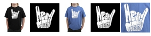 LA Pop Art Big Boy's Word Art T-Shirt - Heavy Metal