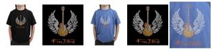 LA Pop Art Big Boy's Word Art T-Shirt - Lyrics To Freebird