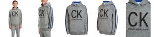 Calvin Klein Big Boys Athlete Taped Embossed Logo Hoodie