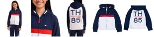 Tommy Hilfiger Little Girls Colorblocked Zip-Up Hoodie