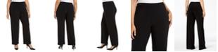 Alfani Plus Size Knit Wide-Leg Pant, Created for Macy's