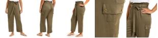 Planet Gold Trendy Plus Size Paperbag Cargo Pants