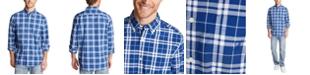 Nautica Men's Blue Sail Classic-Fit Stretch Plaid Poplin Shirt, Created for Macy's