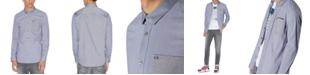 A|X Armani Exchange Men's Long-Sleeve Pocket Shirt