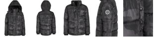 DKNY Little Boys Faux-Fur-Trim Puffer Jacket
