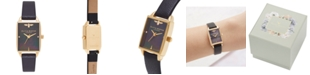 Olivia Burton Women's Bee Hive Black Leather Strap Watch 20mm