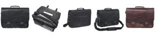 Mancini Buffalo Collection Porthole Laptop/ Tablet Briefcase
