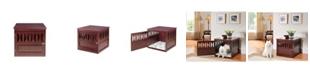 Elegant Home Fashions Titan Geometric Design Dog Crate End Table