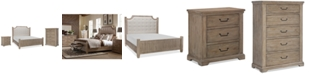 Furniture Monteverdi Upholstered Bedroom Furniture 3-Pc. Set (King Bed, Nightstand & Chest)