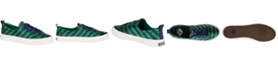 Sperry Women's Crest Vibe Varsity Stripe Satin Sneakers