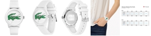 Lacoste Women's 12.12 White Silicone Strap Watch 36mm