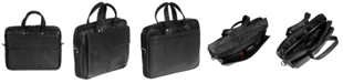 """Mancini Colombian Collection Single Compartment 15.6"""" Laptop / Tablet Briefcase"""