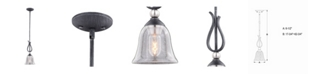 Vaxcel Seville Nickel Mini Pendant Light with Clear Seeded Glass