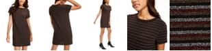 Rosie Harlow Juniors' Lurex Striped T-Shirt Dress