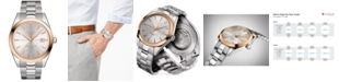 Tissot Men's Swiss Automatic Gentleman Stainless Steel Bracelet Watch 40mm