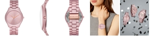 Michael Kors Women's Slim Runway Pink Aluminum Bracelet Watch 42mm