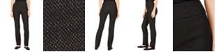 Charter Club Petite Cambridge Ponté-Knit Tinsel Jacquard Pants, Created For Macy's