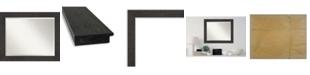 "Amanti Art Rustic Plank Framed Bathroom Vanity Wall Mirror, 33.38"" x 27.38"""